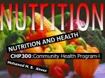 CHP300 :Community Health Program-l