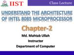 Understand the architecture of Intel 8085 microprocessor