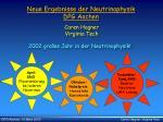 Neue Ergebnisse der Neutrinophysik DPG Aachen