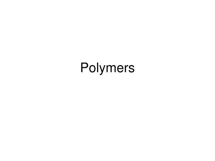 polymers n.