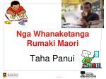 Nga Whanaketanga Rumaki Maori