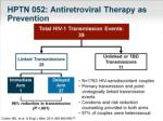 HPTN 052: Antiretroviral Therapy as Prevention