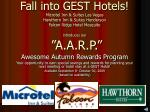 Awesome Autumn Rewards Program