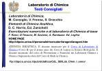 Laboratorio di Chimica Testi Consigliati