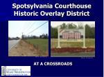 Spotsylvania Courthouse Historic Overlay District