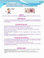 HIPO PERSISTENTE COMO MANIFESTACIÓN DE TROMBOEMBOLISMO PULMONAR (TEP)