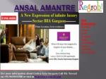 2/3 bhk apartments in ansal amantre
