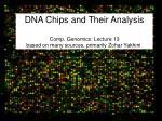 DNA Microarras: Basics