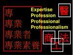 專 專業 專業者 專業素養