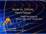 Acute vs. Chronic  Heart Failure