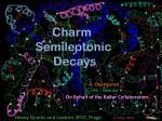Charm Semileptonic D ecays