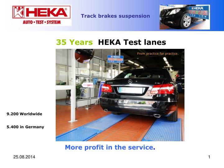 35 years heka test lanes n.