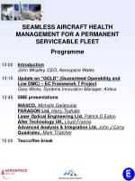 SEAMLESS AIRCRAFT HEALTH MANAGEMENT FOR A PERMANENT SERVICEABLE FLEET Programme