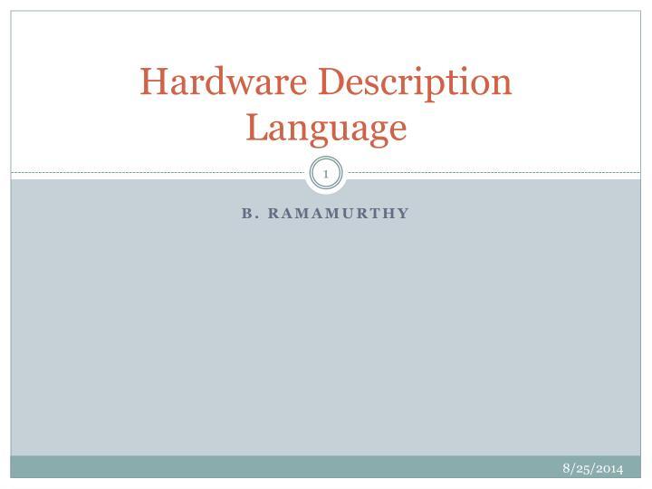 hardware description language n.