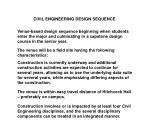 CIVIL ENGINEERING DESIGN SEQUENCE