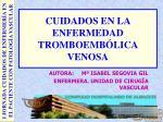 CUIDADOS EN LA ENFERMEDAD TROMBOEMBÓLICA VENOSA