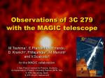 Observations of 3C 279 with the MAGIC telescope