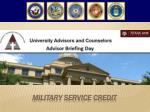 Military service credit