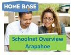 Schoolnet Overview Arapahoe