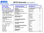 EPTC Overview  as of July/2012