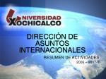 RESUMEN DE ACTIVIDADES 2006 – 2007-1