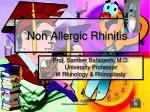 Non Allergic Rhinitis