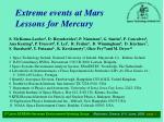 Extreme events at Mars Lessons for Mercury