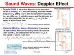 Sound Waves:  Doppler Effect