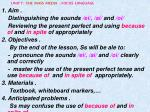 UNIT 7 : THE MASS MEDIA - FOCUS LANGUAGE 1. Aim .