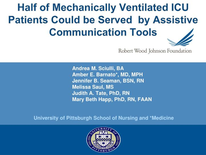 half of mechanically ventilated icu patients could be served by assistive communication tools n.