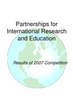Partnerships for International Research and Education