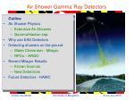Air Shower Gamma Ray Detectors