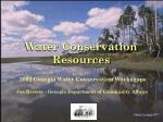 Water Conservation Resources