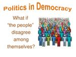Politics in Democracy