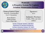 WebSAT: A Proactive System To Capture Aviation Maintenance Errors