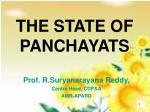 THE STATE OF PANCHAYATS