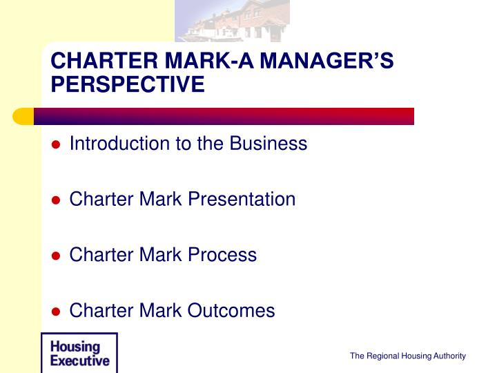 charter mark a manager s perspective n.