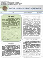 Informe Trimestral sobre Leptospirose