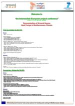 """Welcome to """" the Intermediate European project conference"""" October 6 & 7, 2011- Marseille, FRANCE"""