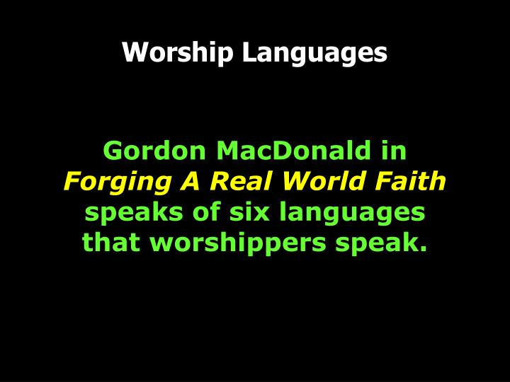 PPT - Worship Languages PowerPoint Presentation - ID:3577214