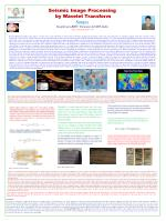Seismic Image Processing by Wavelet Transform Sunjay Geophysics,BHU, Varanasi-221005,India