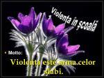 Violenţa în şcoală