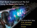 Fast Beam Diagnostics at the ILC Using the Beam Calorimeter