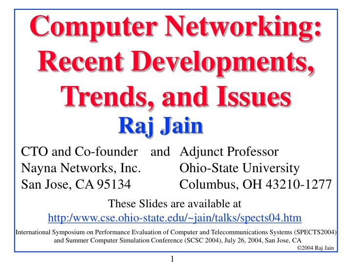 computer networking recent developments trends and issues n.