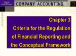Chapter 3       Criteria for the Regulation of Financial Reporting and the Conceptual Framework