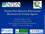 Florida First Detector Educational Resources for County Agents