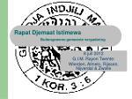 Rapat Djemaat Istimewa Buitengewone gemeente vergadering