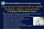 Recommendations for the clinical practice