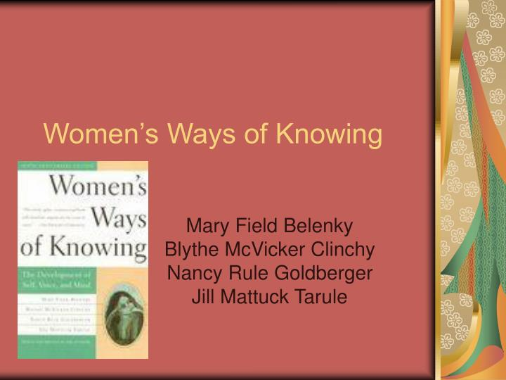 women s ways of knowing n.