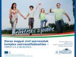 Heves megyei civil szervezetek komplex szervezetfejlesztése – TÁMOP 5.5.3-08/02/0031